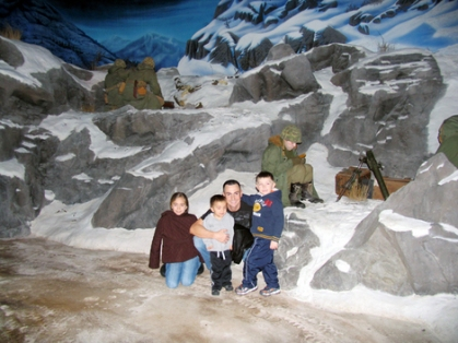 My son with his children at the Marine Museum in Quantico, Virginia